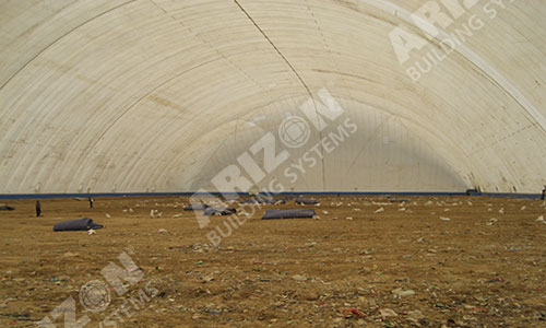 Landfill Cover for Air Supported Structure Industrial Building