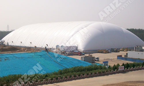 Industrial Building for Landfill Cover
