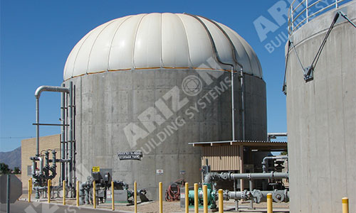 Water Tank Sever Fabric Industrial Dome Cover