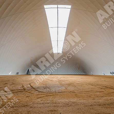 Tall Ceiling and No Columns in completely open-span Industrial Space